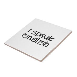 i speak tinglish tile