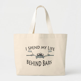 I Spend My Life Behind Bars Canvas Bags