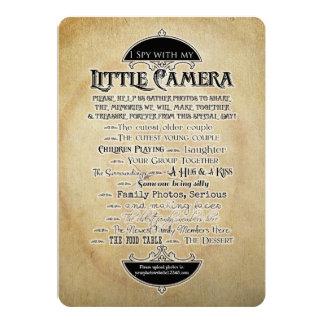 I Spy Camera Typographic Photo Family Reunion Game Card
