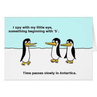 I Spy Penguins Holiday Greeting Card