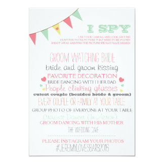 I Spy Wedding Game Card