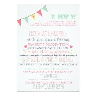 "I Spy Wedding Game 5"" X 7"" Invitation Card"