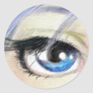 I Spy With My Blue Eye Classic Round Sticker