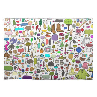 I spy with my little eye cloth placemat