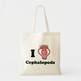 I Squid Cephalopods Tote Bags
