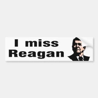 I Srta. Reagan Pegatina De Parachoque