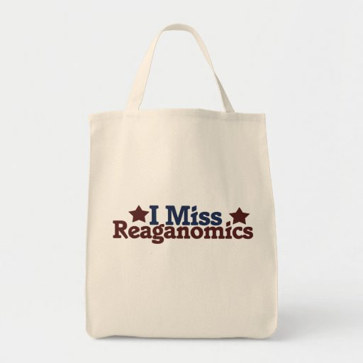 I Srta. Reaganomics Bolsa Lienzo