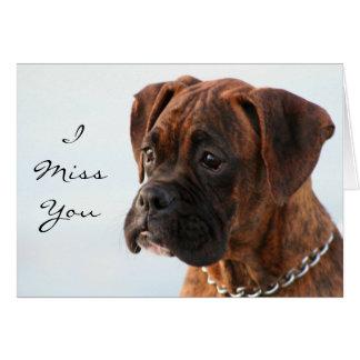 I Srta usted tarjeta de felicitación del perrito