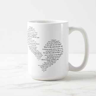 I Srta. You - corazón separado roto Taza De Café