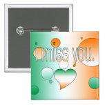 ¡I Srta. You! La bandera de Irlanda colorea arte p Pins