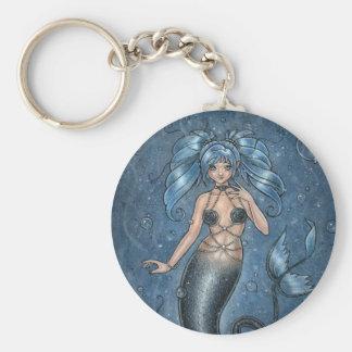 I Srta. You Mermaid Keychain Llavero Redondo Tipo Pin