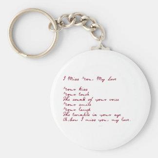 I Srta. You, mi poema del amor Llavero Redondo Tipo Pin