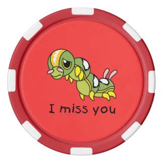 I Srta. You Sad Lonely Crying que llora Fichas De Póquer