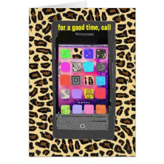 I Srta. You: Teléfono celular Texting Tarjeta Pequeña