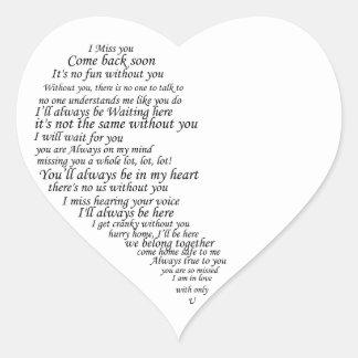 I Srta. You Text por la mitad del corazón Etiquetas