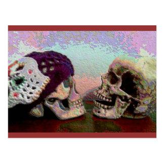 I Srta. Your Face Skull Postcard Postales