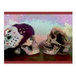 I Srta. Your Face Skull Postcard Tarjetas Postales