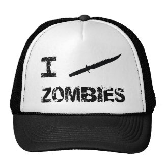 I Stab Zombies Trucker Hat