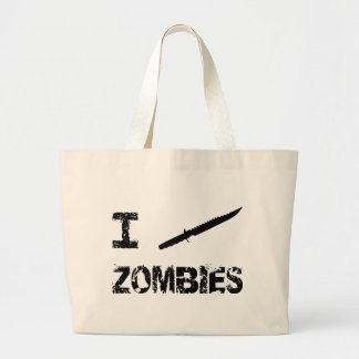 I Stab Zombies Large Tote Bag