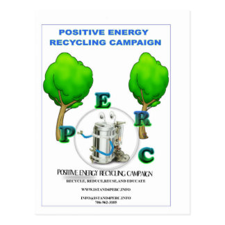 I STAND 4 POSITIVE ENERGY RECYCLING CAMPAIGN POSTCARD