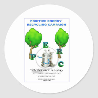 I STAND 4 POSITIVE ENERGY RECYCLING CAMPAIGN STICKER