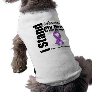 I Stand Alongside My Hero Crohn's Disease Dog Tee Shirt