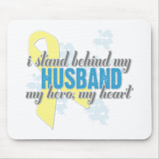 i stand behind my husband mouse pad