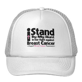 I Stand By My Aunt - Breast Cancer Trucker Hat
