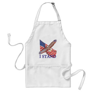 i stand for America Adult Apron