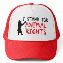 I Stand for Animal Rights Trucker Hat