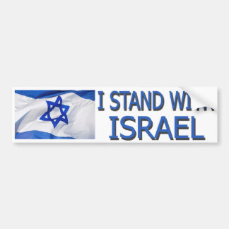 I STAND FOR ISRAEL CAR BUMPER STICKER