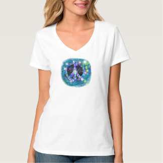 I Stand for Peace Aquadelilc art ladies tee shirt