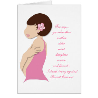 I Stand Strong Against Breast Cancer Card