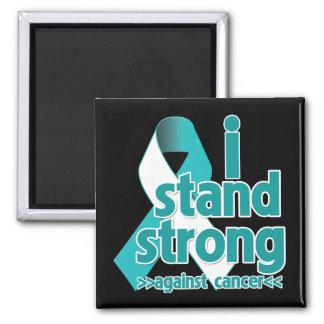 I Stand Strong Against Cervical Cancer 2 Inch Square Magnet