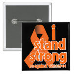 I Stand Strong Against Leukemia Cancer Pinback Buttons