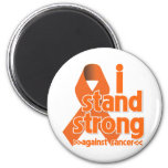 I Stand Strong Against Leukemia Cancer Magnets