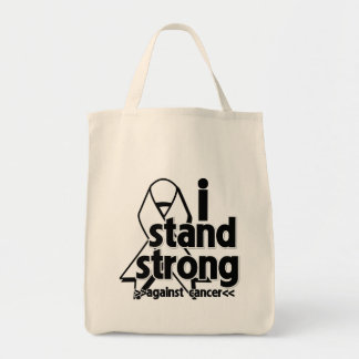 I Stand Strong Against Lung Cancer Bags
