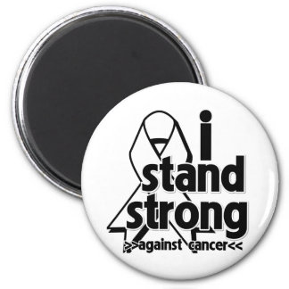 I Stand Strong Against Lung Cancer Fridge Magnets