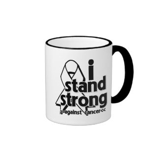 I Stand Strong Against Lung Cancer Ringer Coffee Mug