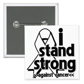 I Stand Strong Against Lung Cancer Pin