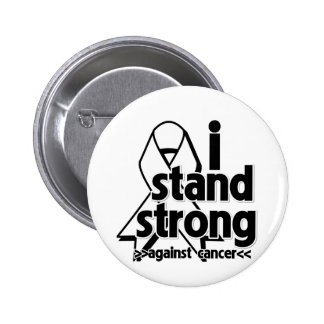 I Stand Strong Against Lung Cancer Pinback Button