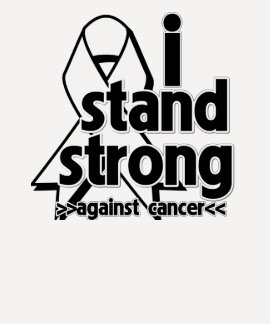 I Stand Strong Against Lung Cancer Tee Shirts