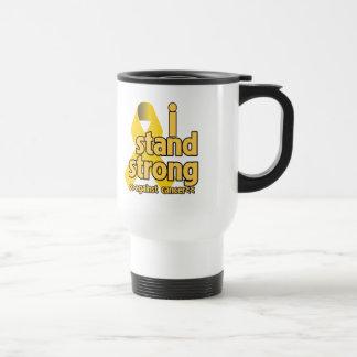 I Stand Strong Against Neuroblastoma 15 Oz Stainless Steel Travel Mug