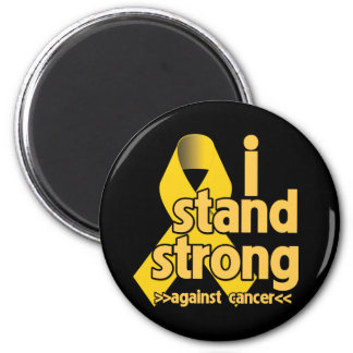 I Stand Strong Against Neuroblastoma 2 Inch Round Magnet