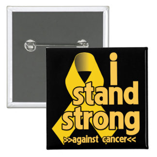 I Stand Strong Against Neuroblastoma 2 Inch Square Button