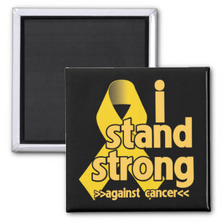 I Stand Strong Against Neuroblastoma 2 Inch Square Magnet