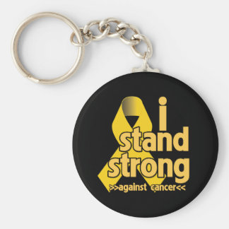 I Stand Strong Against Neuroblastoma Basic Round Button Keychain