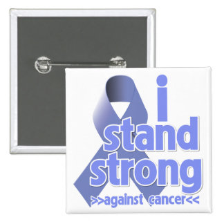 I Stand Strong Against Stomach Cancer 2 Inch Square Button