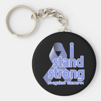 I Stand Strong Against Stomach Cancer Basic Round Button Keychain