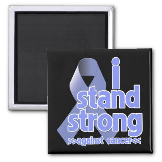 I Stand Strong Against Stomach Cancer 2 Inch Square Magnet